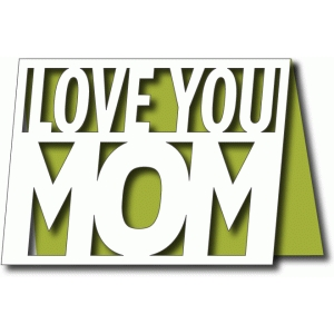 love you mom a2 card