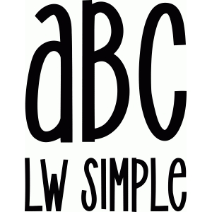 lw simple font