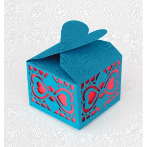 heart doily mosaic favor box