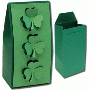 3d open clover favor box