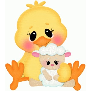 easter chick & lamb