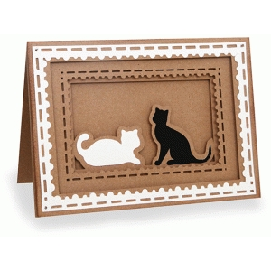 kitten shadow box folded card