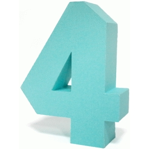 3d square number block 4