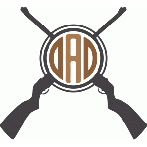 dad hunting monogram