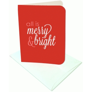 all is merry and bright a2 card