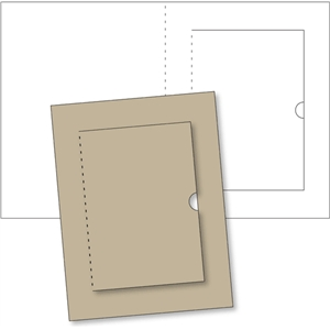 rectangular card base w/flap