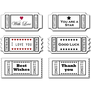 sentiments- greetings tickets set 2