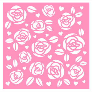 roses background/stecil