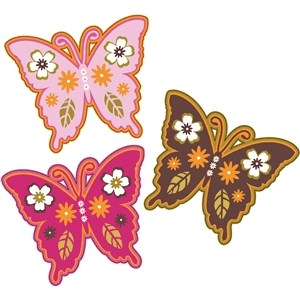 butterflies print and cut