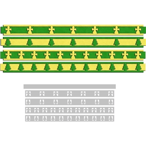 christmas ribbon border 2
