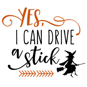 yes, i can drive a stick phrase