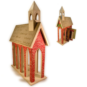 church 3d card holder