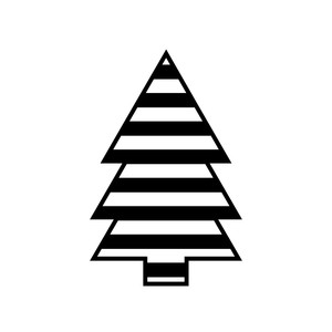 striped christmas tree