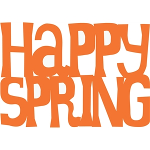 'happy spring' phrase