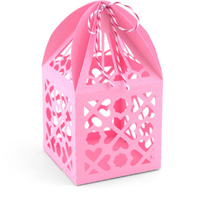 3d heart favor box