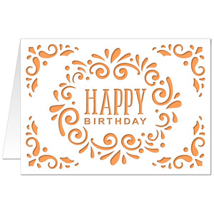 5x7 flourish card happy birthday