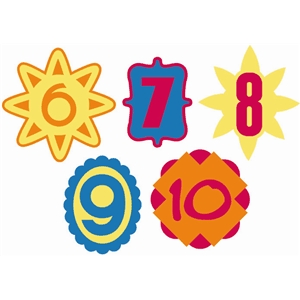 numbers layered shapes 6-10