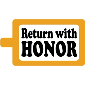 return with honor tag