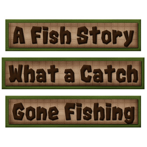 fishing word art