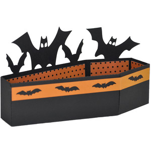 halloween coffin bat treat box