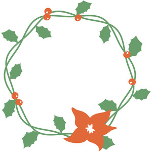holly vine wreath