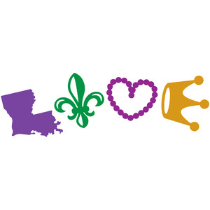 louisiana mardi gras love