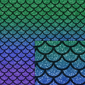 mermaid glitter pattern