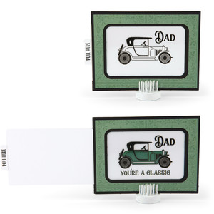 magic slider card vintage car