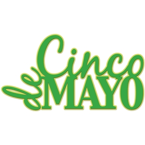 'cinco de mayo' word art