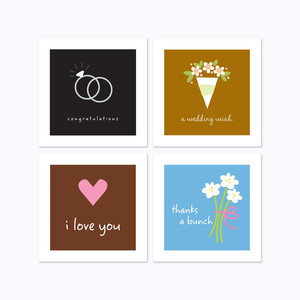 3 x 3 wedding cards assorted