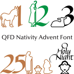 qfd nativity advent font