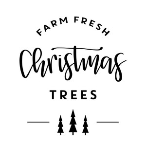 fj farm fresh christmas tree sign