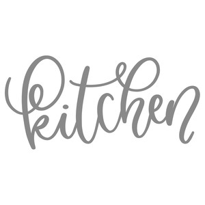 kitchen handlettered