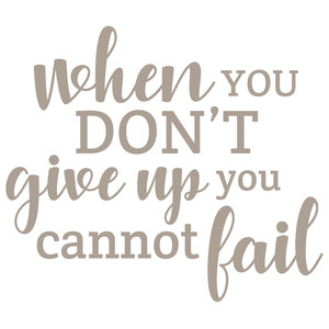 when you don't give up you cannot fail