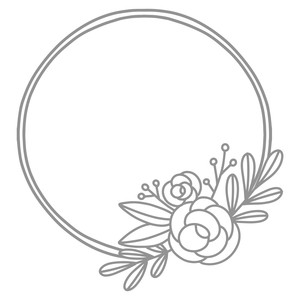 rose flower double wreath