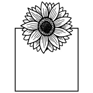 sunflower square frame