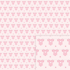 digital paper baby girl