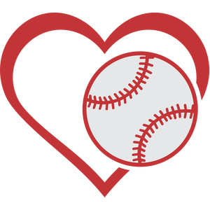 love baseball heart