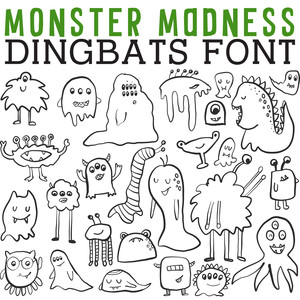cg monster madness dingbats