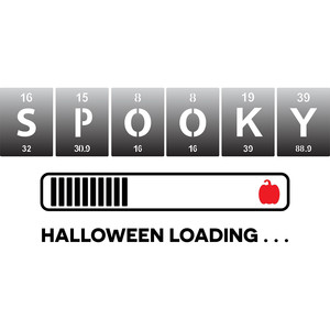 periodic table spooky halloween loading
