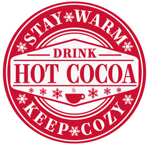 stay warm cocoa label