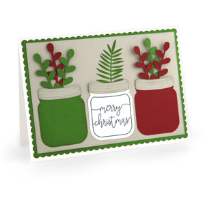 mason jar christmas card