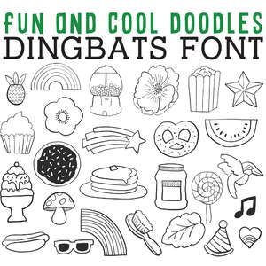 cg fun and cool doodles dingbats