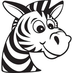 cartoon zebra