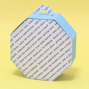 big octagonal box with handle