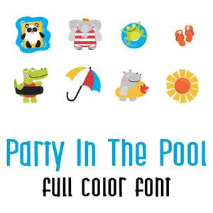 party in the pool full color font