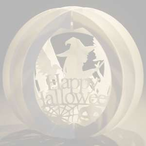 three layered pop up sphere halloween