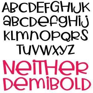 pn neither demibold