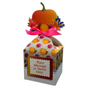 pumpkin and flowers larger anything box