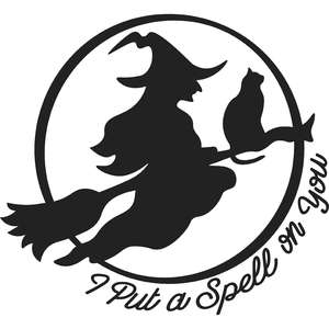 i put a spell on you flying witch halloween